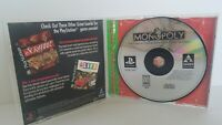 MONOPOLY GREATEST HITS Sony PlayStation PS1 Game Complete CIB