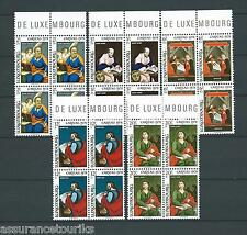 LUXEMBOURG CARITAS  - 1978 YT 926 à 930 - BLOCS DE 4 - TIMBRES NEUFS** LUXE