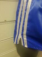 Retro Nylon Satin Football Short S to 4XL, Royal & White