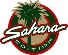 """SAHARA EDITION"" sticker decal 6.25"" X 5.2"" Looks Like OEM JEEP Wrangler U get 2"