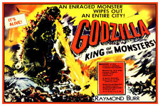 """GODZILLA - KING OF THE MONSTERS MOVIE POSTER 12""""X18"""" - RAYMOND BURR REPRODUCTION"""