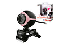 Neuf trust 17005 exis rose/noir webcam, built-in mic, plug & go