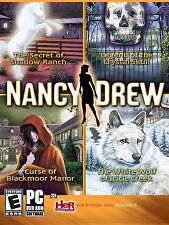Nancy Drew 4 pack Secret of Shadow Ranch Crystal Skull Blackmoor Manor WhiteWolf