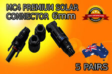 5 X Pairs MC4 Solar Panel Connectors 6mm Male Female Set TUV IP67 30A  PV Solar
