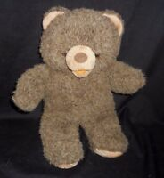 "12"" VINTAGE APPLAUSE ADDISON JR BABY BROWN TEDDY BEAR STUFFED ANIMAL PLUSH TOY"