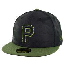 New Era 5950 Pittsburgh Pirates ALT 3 Fitted Hat (Black/Army Green) MLB Cap
