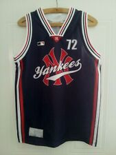More details for new york yankees baseball original shirt top vest retro vintage jersey mens size