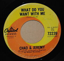 Chad+Jeremy What Do You Want With Me / A Very Good Year 1965 Rock 45 on Capitol