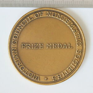 Australia Victorian council of numismatic societies prize medal (SH4/414)