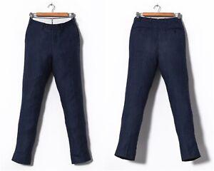 Mens SUITSUPPLY Pants Trousers Wool Silk Linen Blue Size EU 46 UK/US 36 W30