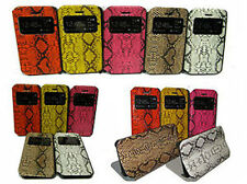 For Apple IPhone 5 5G 5S Snake Leather S View Smart Cover Case Pouch Protector