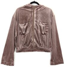 Young Fabulous & Broke dark rose velour Fritzy Jacket M NEW