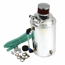 Polished Aluminum OIL CATCH CAN reservoir breather Tank with filter 2 Litre