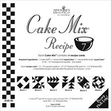 MISS ROSIE'S QUILT CO~CAKE MIX RECIPE 7~44 SHEETS 4 LAYER CAKE PAPER PIECING
