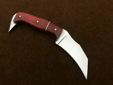 "Custom Hand Made 1095-High Carbon Steel 8"" hunting Knife with Leather Sheath"