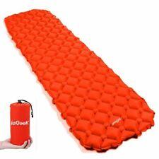 Camping Isomatte,Einzelne Schlafmatte Ultraleichte Isomatte für Outdoor Orange