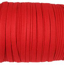 Eloja® 3 Meter Korsett Schnur hochwertig aus Baumwolle 10 mm Breit Rot