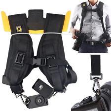 Double Dual Shoulder Belt Harness Holder Camera Adjustable Neck Strap DSLR SLR