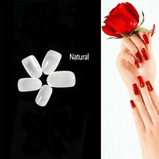 100Pcs Natural French Acrylic False Fake Nail Tips Art Full Cover DIY Manicure