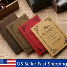 """""""The Classic"""" 1pc Journal Diary Vintage Hard Cover Lined Business Notebook"""