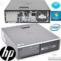 Fast HP Intel Dual Core Processor 6GB RAM DVD WiFi Cheap Windows7 PRO Desktop PC