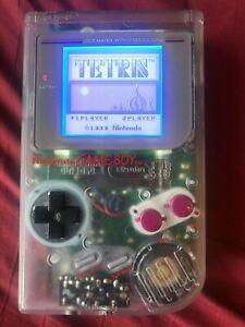 Nintendo Game Boy DMG-01 Clear Backlight Bivert mod Prosound LSDJ Chiptune