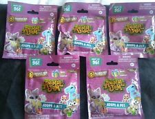 LOT OF 5 ANIMAL JAM ADOPT A PET BLIND BAGS-NEW IN PACKAGE/SEALED  FOR AGES 5+