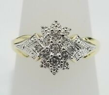 Hand Ring Band Anniversary Pave Ladies Sale 10K Yellow Gold Art Fashion Right