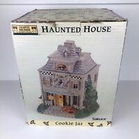 Debbie Mumm Sakura Halloween Haunted House Ceramic Cookie Jar