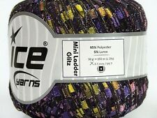 Iris Mini Ladder Glitz Ribbon Yarn Ice 41715 - Purple Lilac Rose Green 50gr 164y