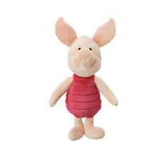 "Disney Store Winnie the Pooh VERY SOFT PIGLET 15"" Plush STUFFED ANIMAL Toy NEW"