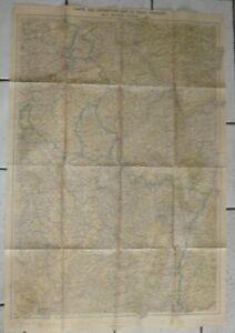 carte des opérations sur le front français WW2 GIRARD et BARRERE PARIS war map