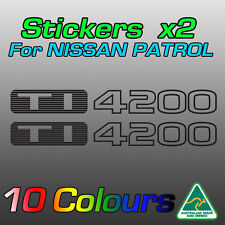 Nissan Patrol TI4200 TI 4200 stickers decals for GU model   **Premium quality**