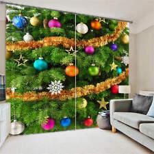 Ornaments Christmas 3D Customize Blockout Photo Curtains Print Home Window Decor