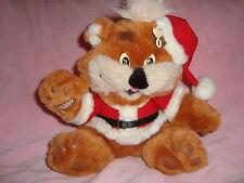 """Zellers Teddy Bear ZEDDY Dressed in Santa Suit Plush 10"""" tall"""