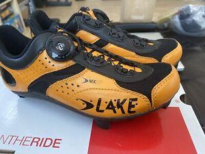 Lake Womens Cyclocross Mtb Spin MX331 Shoes Orange Black Boa Carbon 38 Size 7