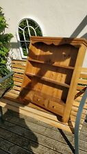 Antique Style Wooden Shelf Unit, Dresser Style, 3 Shelves and 3 Drawers