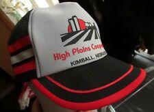Nos True Vtg 80s 3 Stripe Nebraska Farmer Mesh Soft SnapBack Trucker Hat Cap