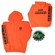 LARGE Orange DPP Ford powerstroke diesel Hoodie hooded sweatshirt long sleeve