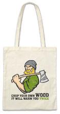 Chop Your Own Wood Stofftasche Einkaufstasche Holzfäller Holz Waldarbeiter