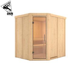Karibu Sauna Saunahaus Heimsauna Elementsauna Innensauna Fichte MIKKEL 231x196cm