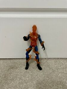 "Human Torch Jonathan Storm 6"" Action Figure 2005 Toybiz Marvel Lights Up Rare"