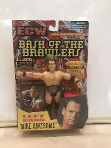Mike Awesome Bash of the Brawlers OSFTM ECW WRESTLING FIGURE MOC W/ CARDS BELT
