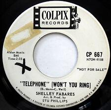 SHELLEY FABARES 45 Telephone / Big Star PROMO Teen POP Colpix 1962 e3183
