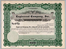 1947 Vintage Eagle Crest Neighborhood Stock Certificate / St Petersburg Florida