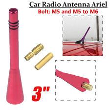 1x Universal Red Car Short Stubby Antenna Aerial AM/FM Radio Mast Screw Type