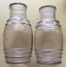 Antique glass bottle jar with circular scar, extract lip, purpling