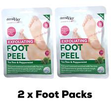 2 x Derma V10 Exfoliating Foot Peel Sock Mask Baby Soft Feet Removes Dead Skin