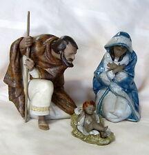 Lladro #17805 Silent Night Set Of 3 Saint Joseph Baby Jesus Virgin Mary Bnib F/S