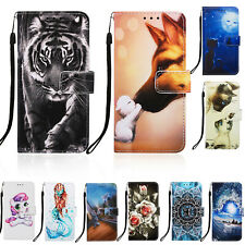 For Samsung S10 Lite S20 A70 Case Cute Animal Magnetic Flip Wallet Leather Cover